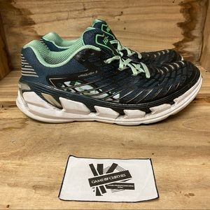 Hoka one one vanquish 3 blue green running…